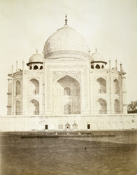 The Taj, Agra, centre.